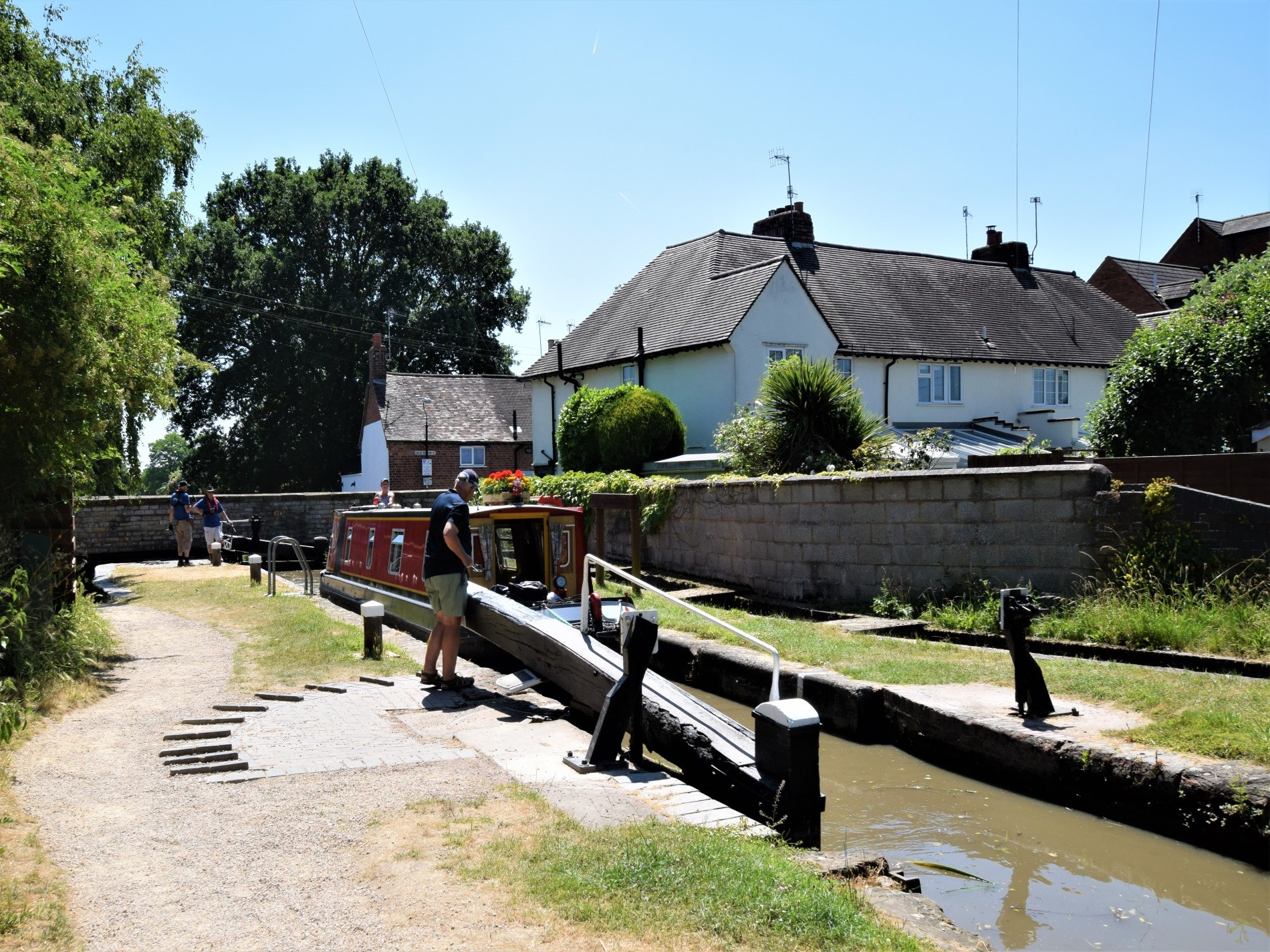 Watch the narrow boats on the canal nearby