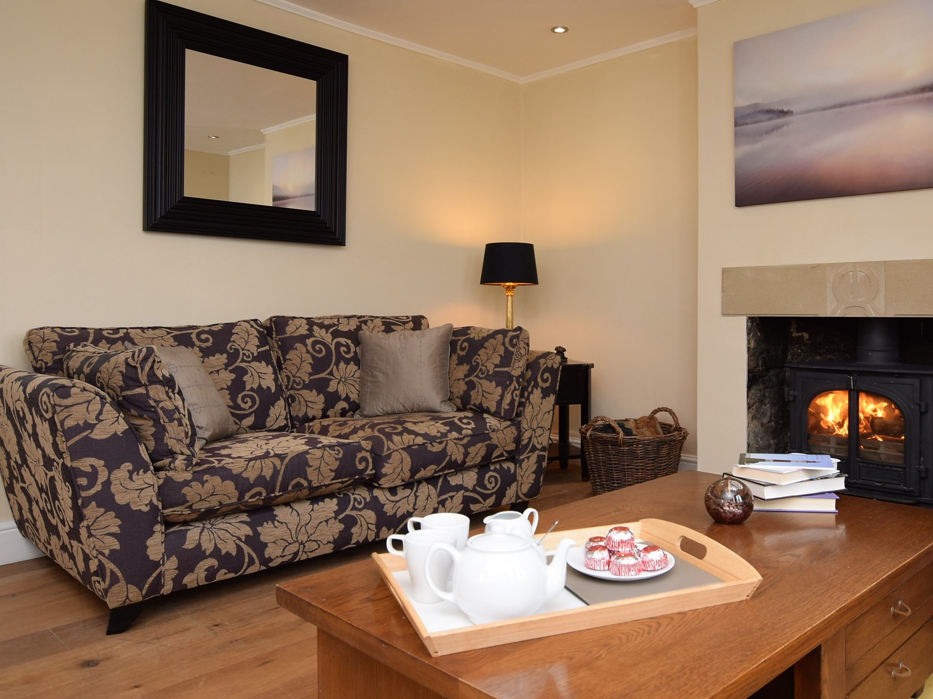 The cosy lounge is a great place to relax