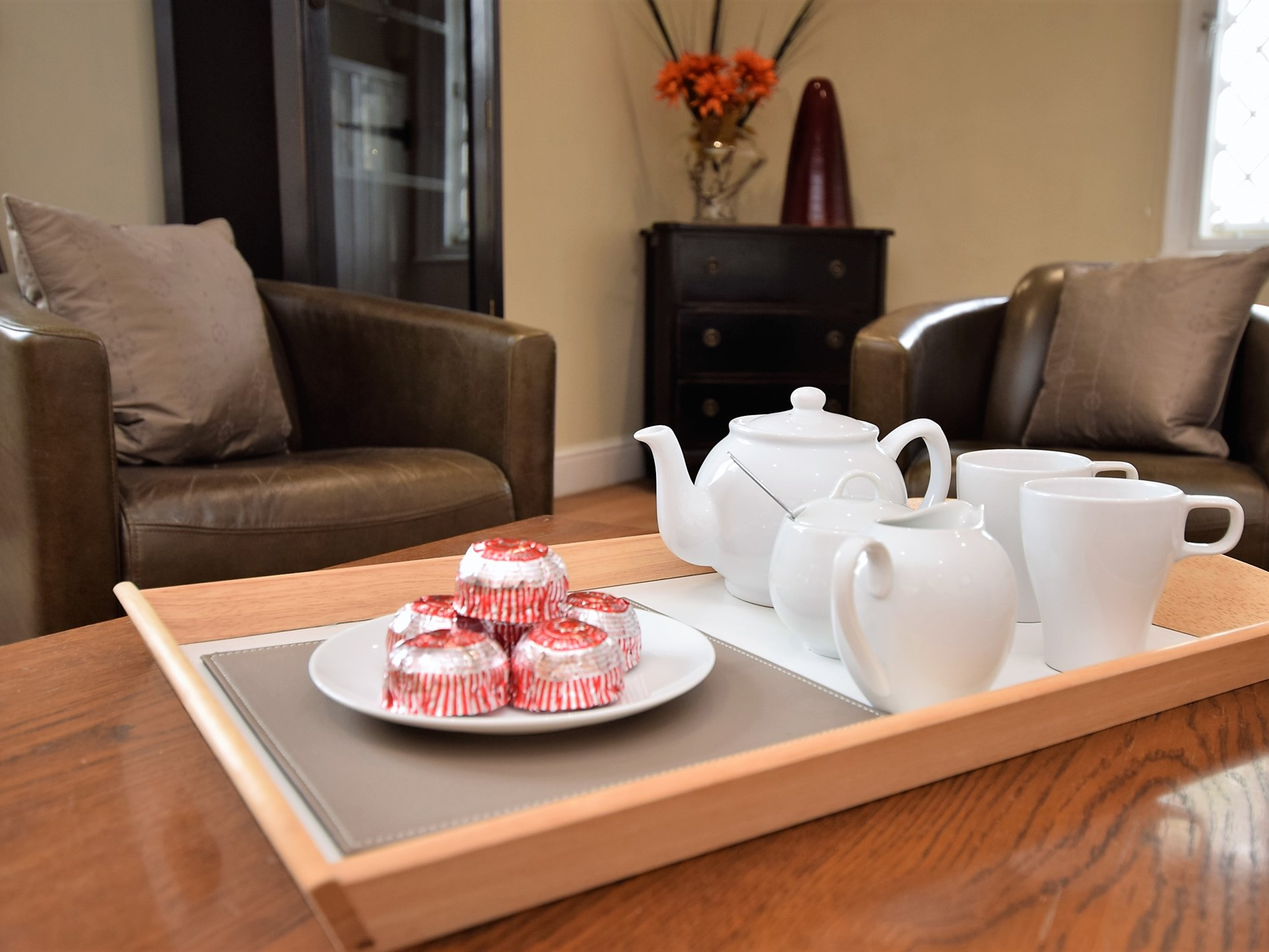 Enjoy afternoon tea after a busy day