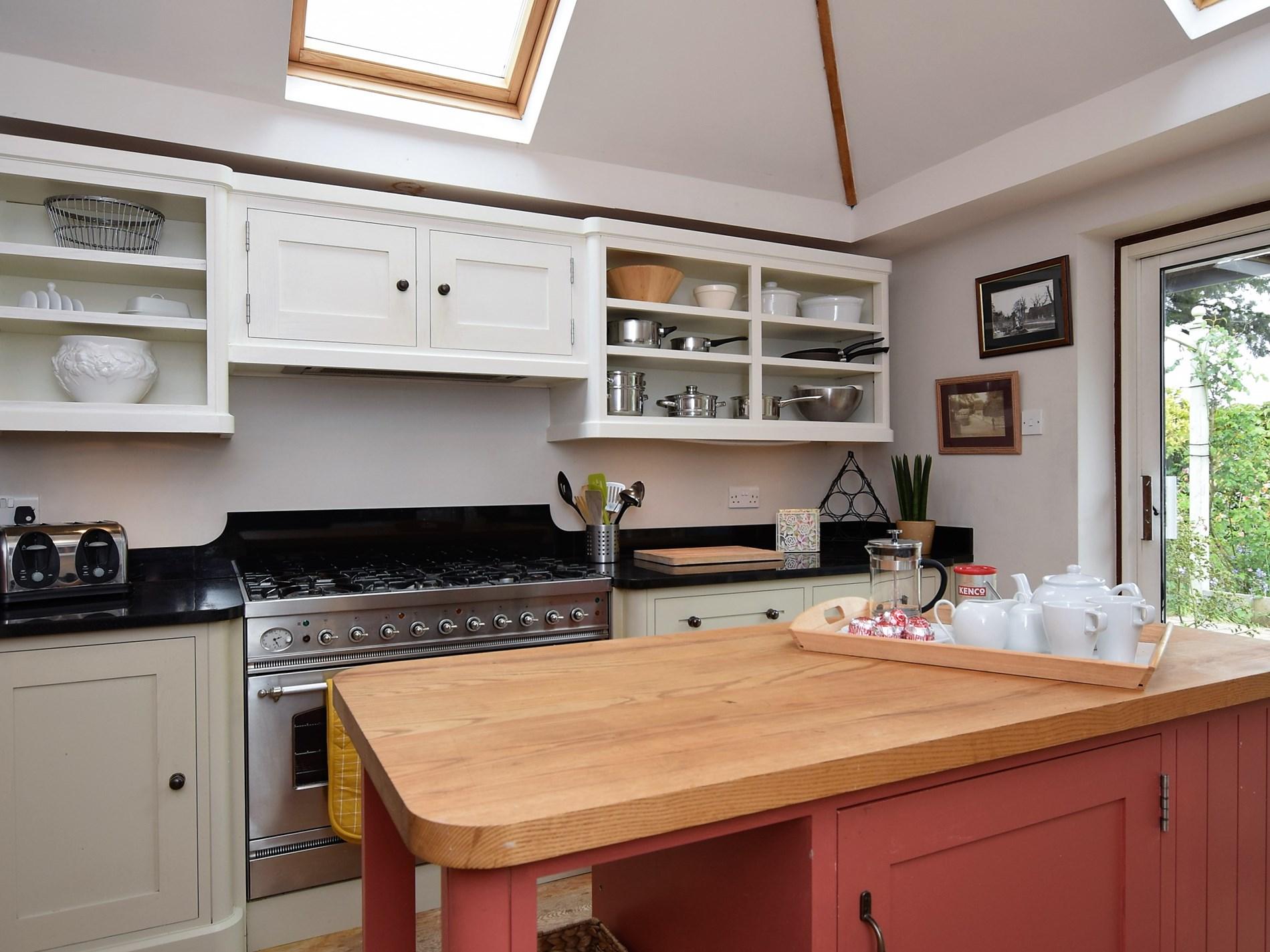 Enjoy preparing meals in the light filled kitchen