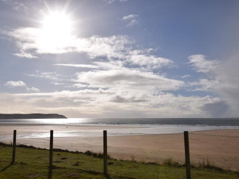 Stunning golden sands of Woolacombe a few minutes walk from the apartment
