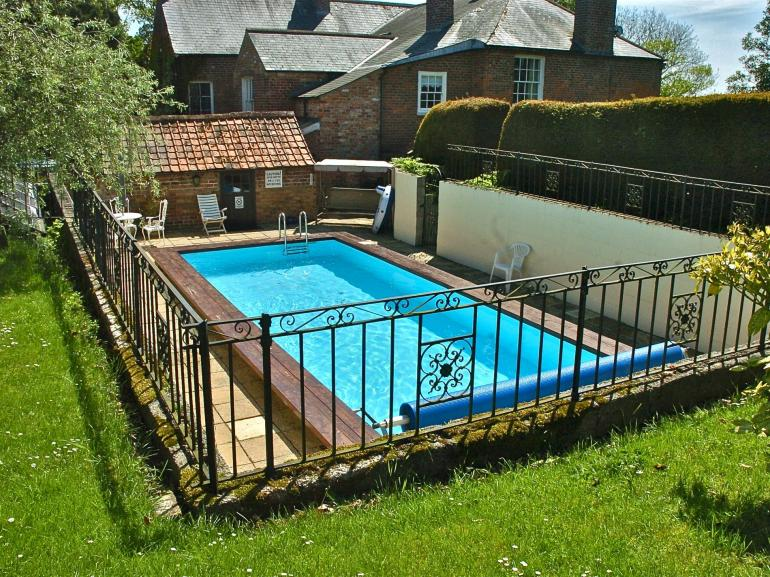 Outdoor swimming pool to cool off on a warm day