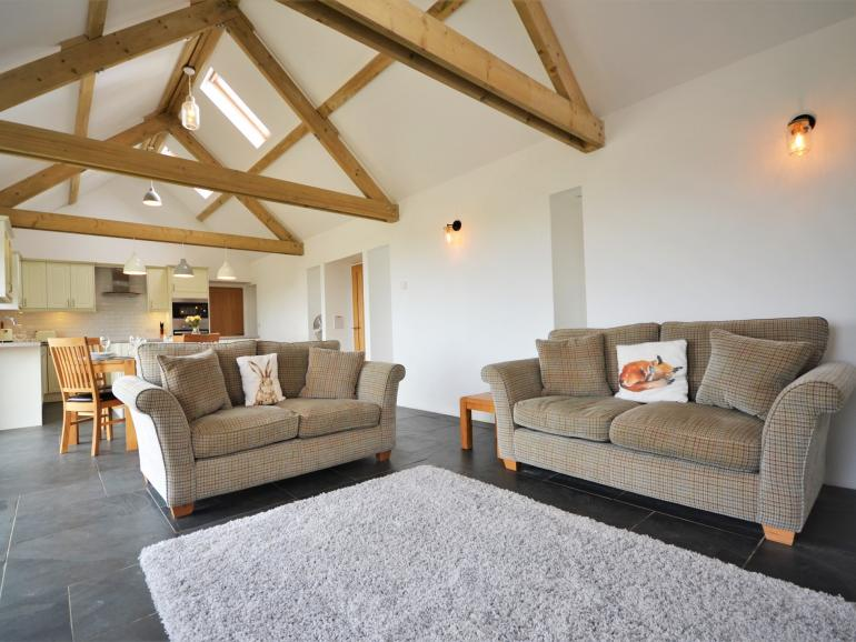 Beautifully restored barn with character beams and open-plan living