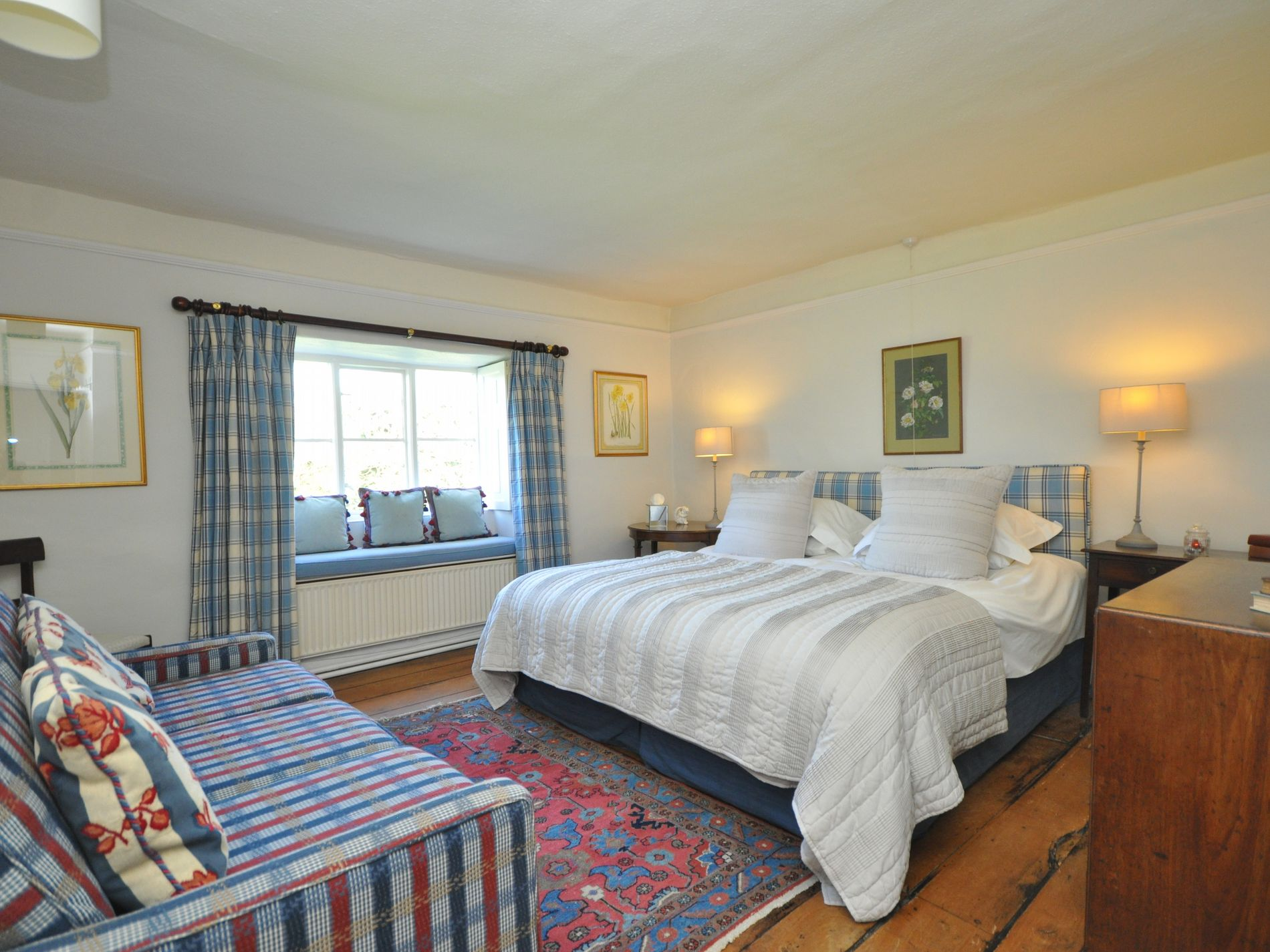 Super-king-size bedroom, main house
