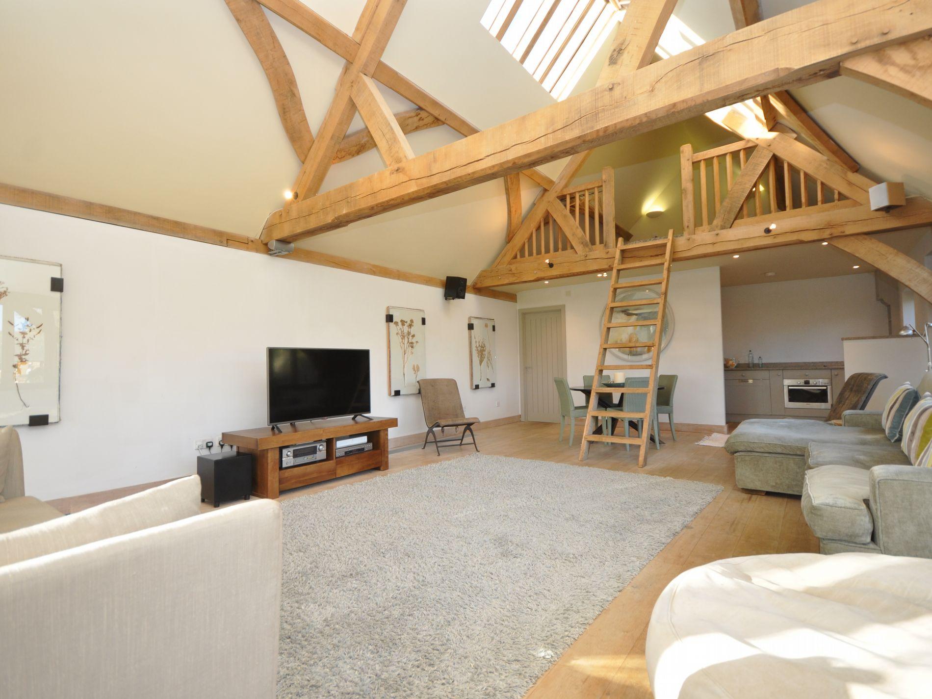 Additional living space in the oak framed barn