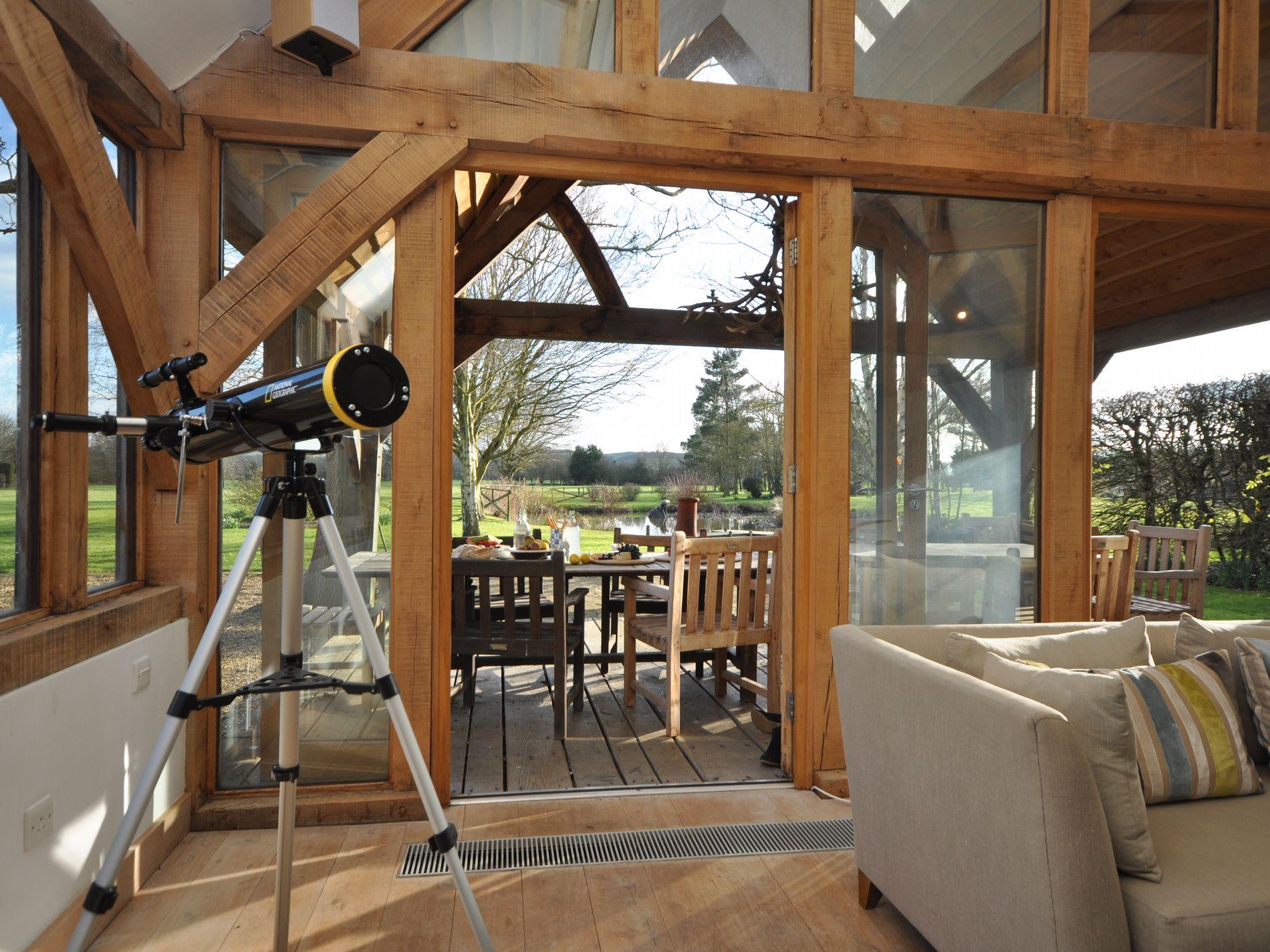 Views from the oak framed barn