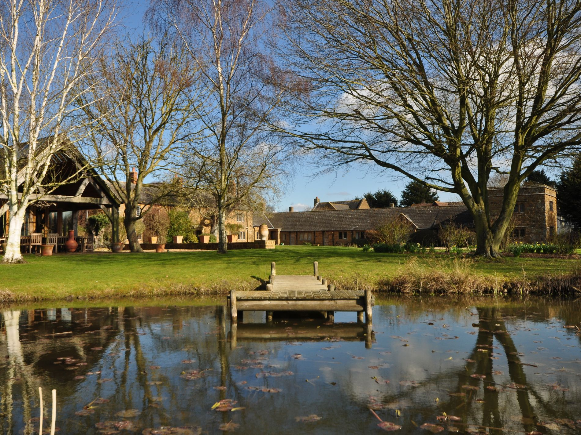 Ornamental lake and grounds