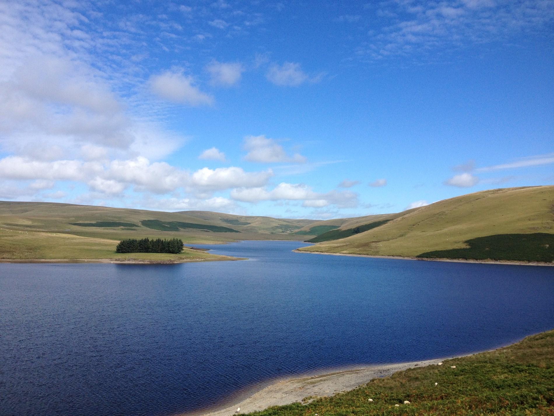 Craig Goch reservoir in the nearby Elan Valley