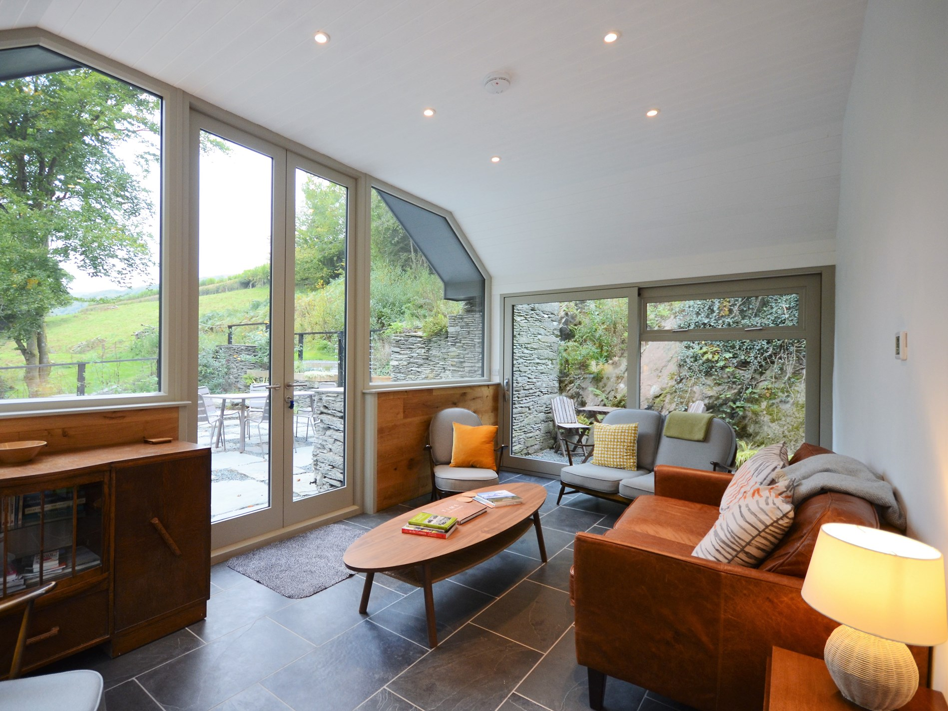 Beautiful sun room leading out onto the patio