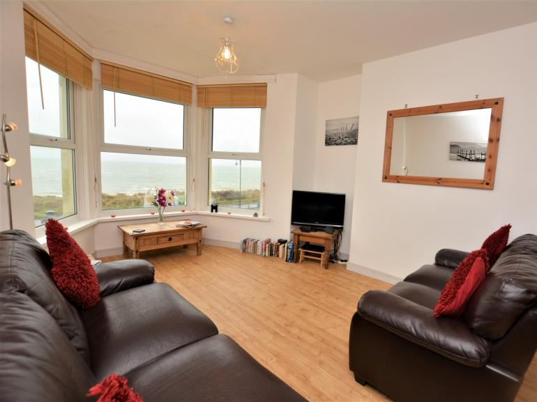 Large bay window overlooking the sea front, wonderful views