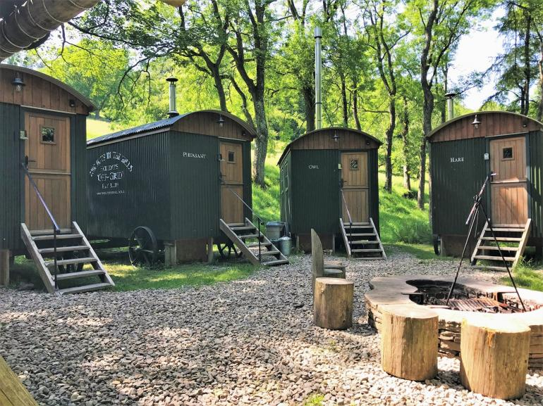 Fabulous group of huts set in the hills - the ultimate glamping experience!