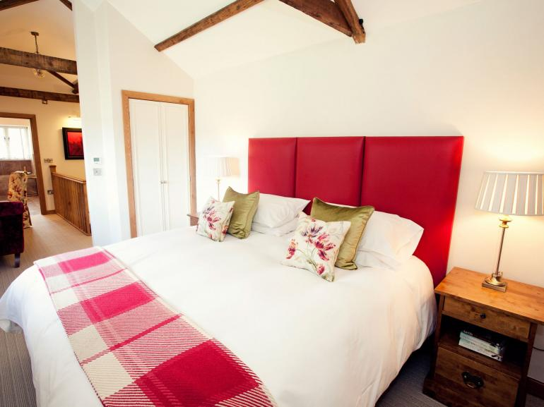 Step upstairs and a treat awaits, a beautiful bedroom, dressing room and luxurious bathroom
