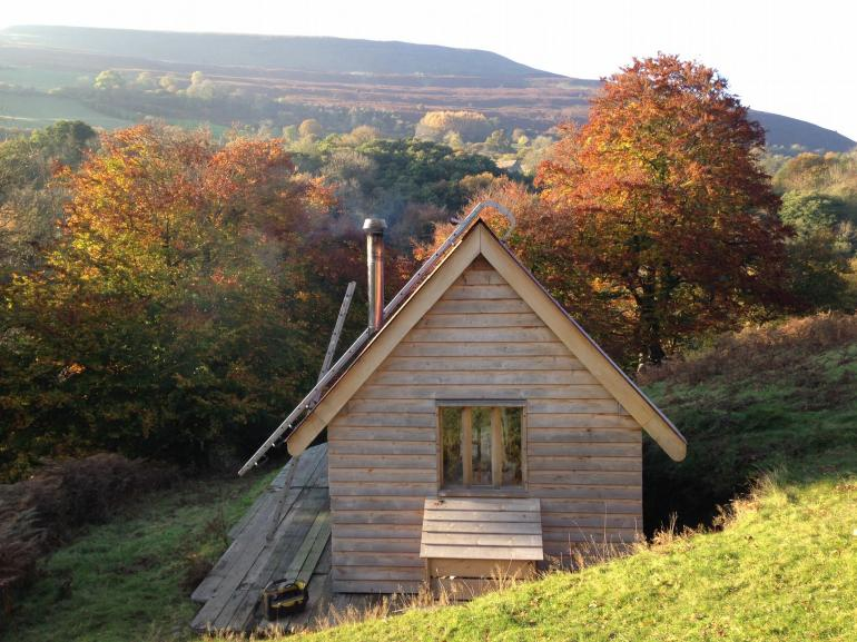 View towards the oak cabin