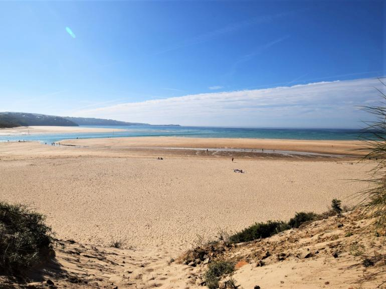 Golden sands of Hayle beach within easy reach