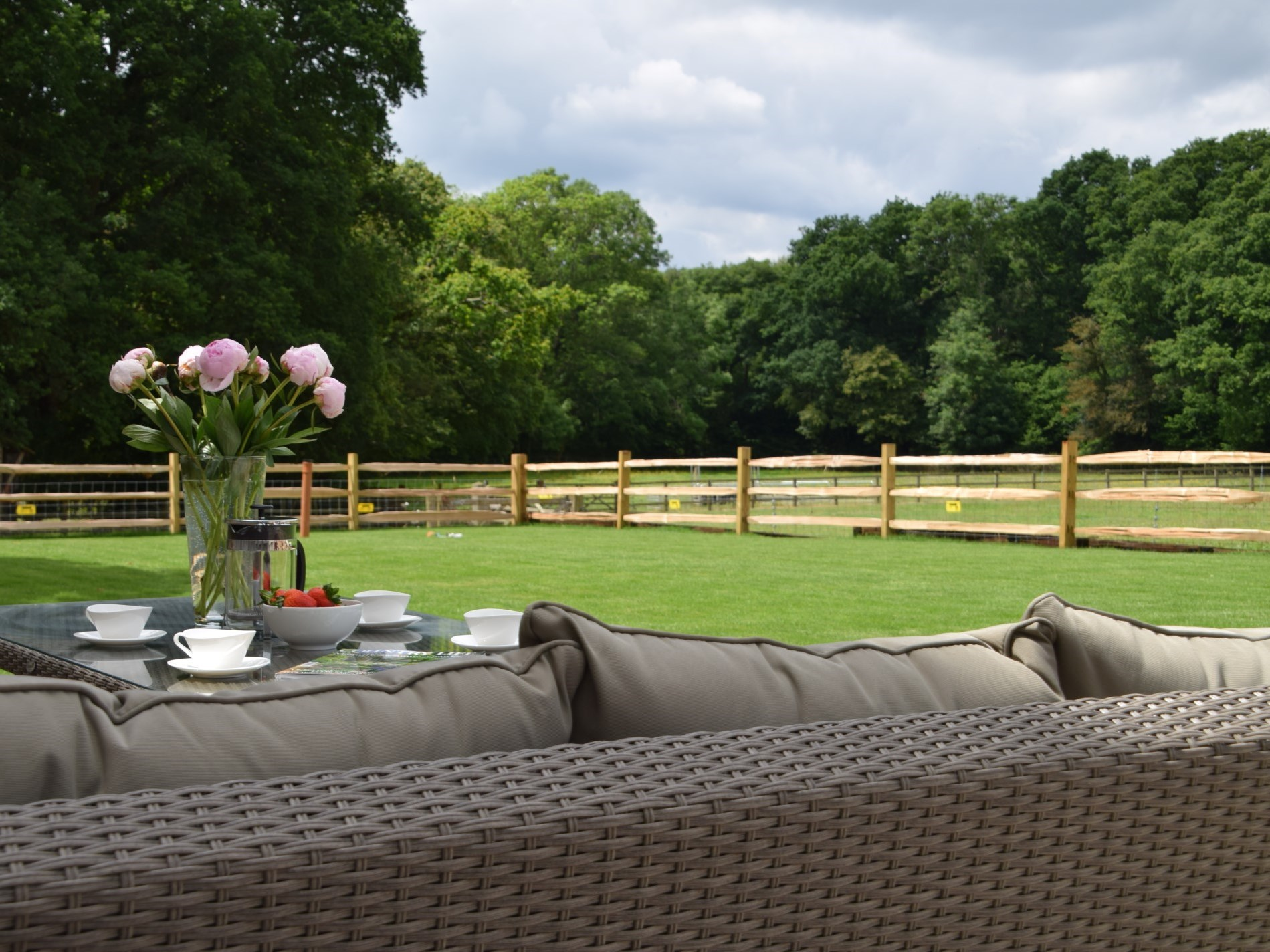 Enjoy afternoon tea in the garden