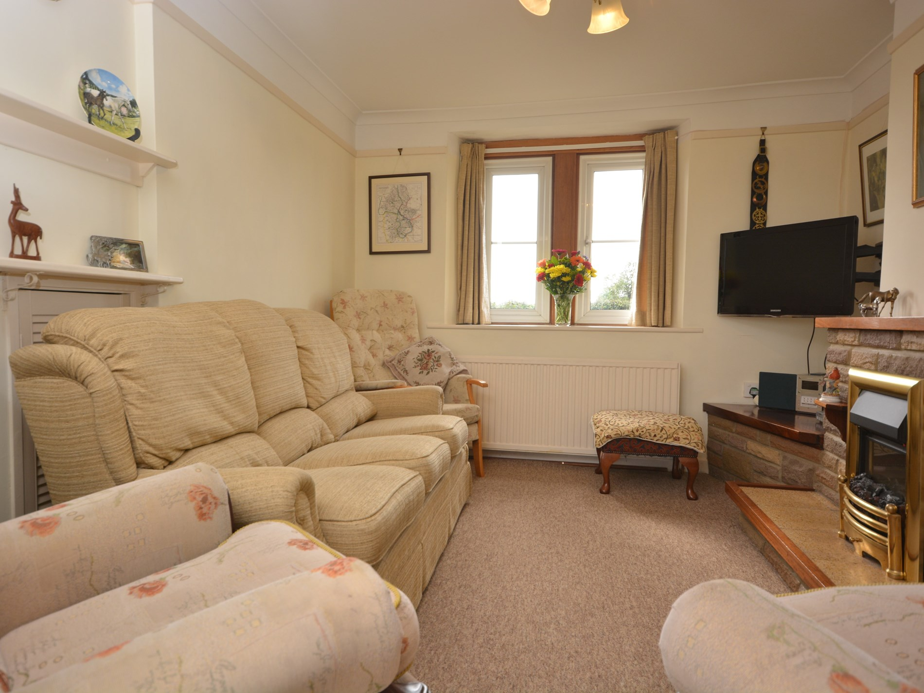 Large lounge perfect for a cosy night in