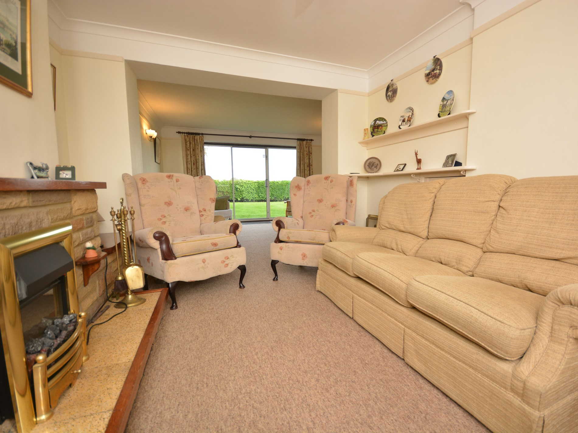 Large lounge with second seating area