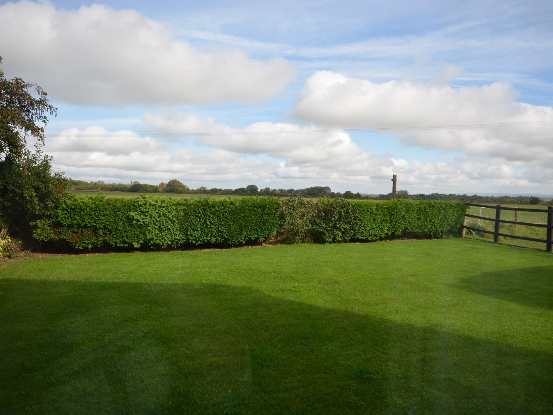Garden with countryside views beyond