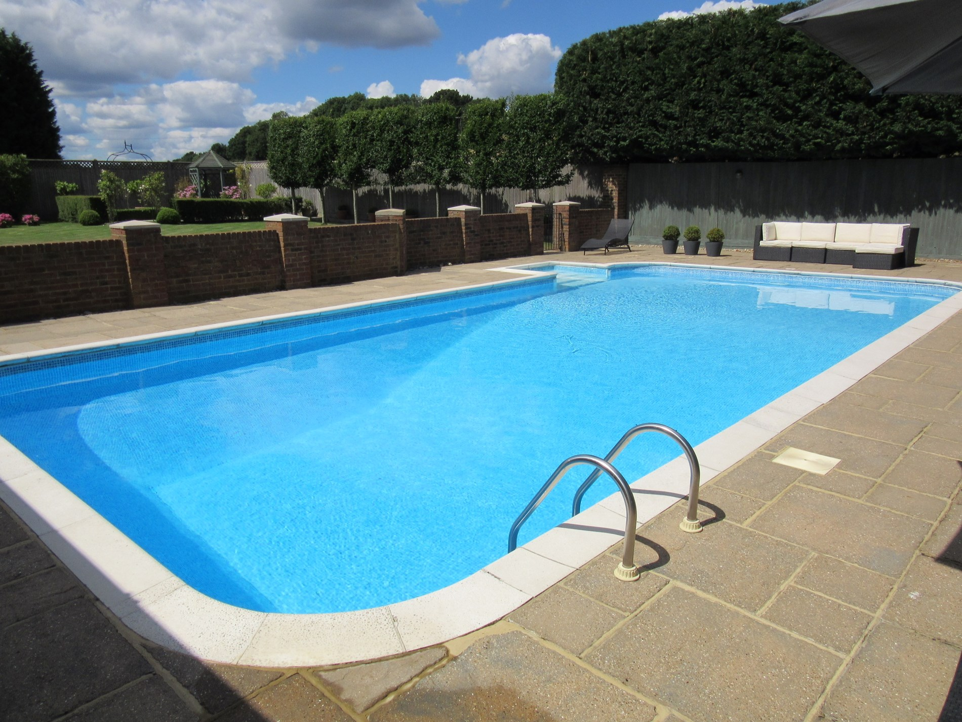 Relax and unwind by the heated pool