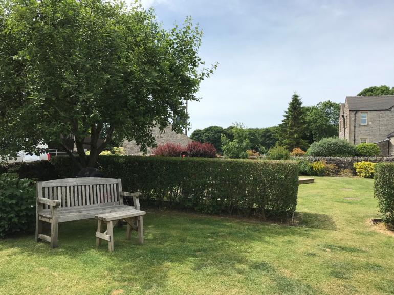 Pretty garden seating