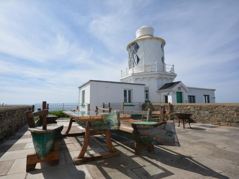 Enjoy the lighthouse views from the patio