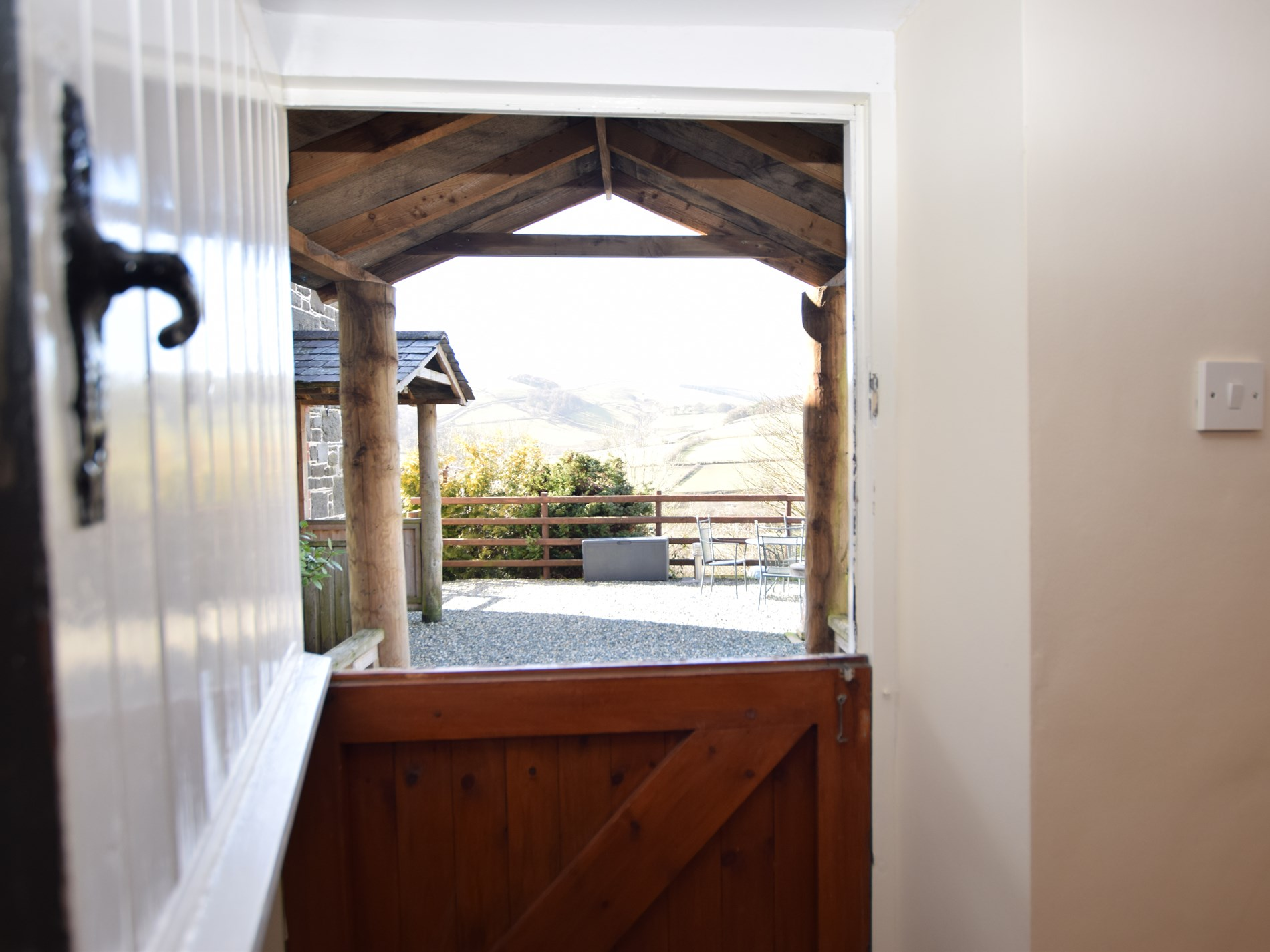 Enjoy the views from the stable door across the courtyard