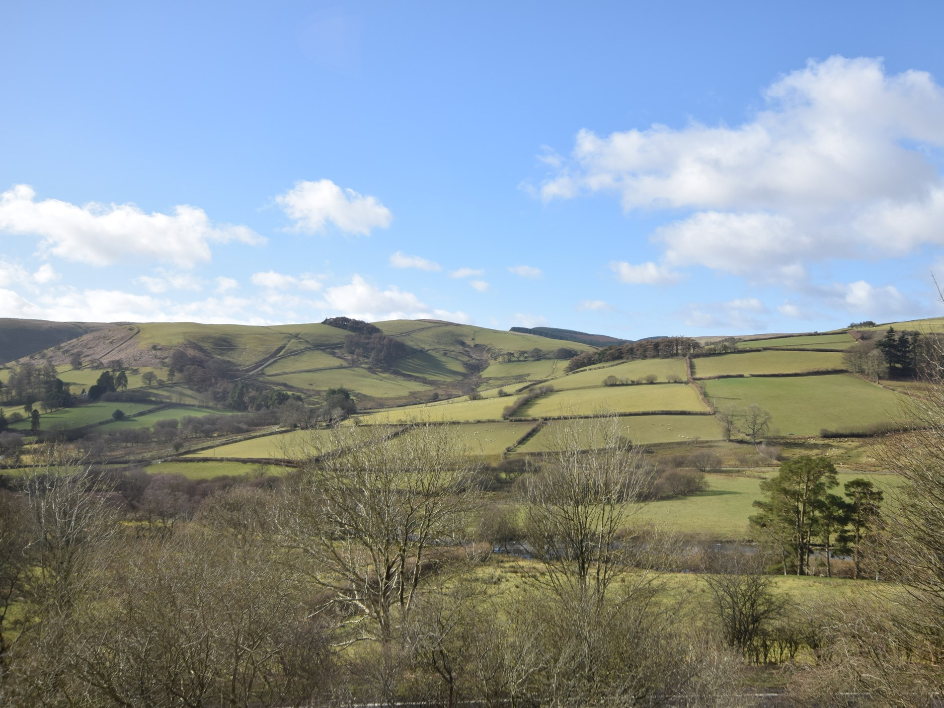 Rolling countryside views from the property