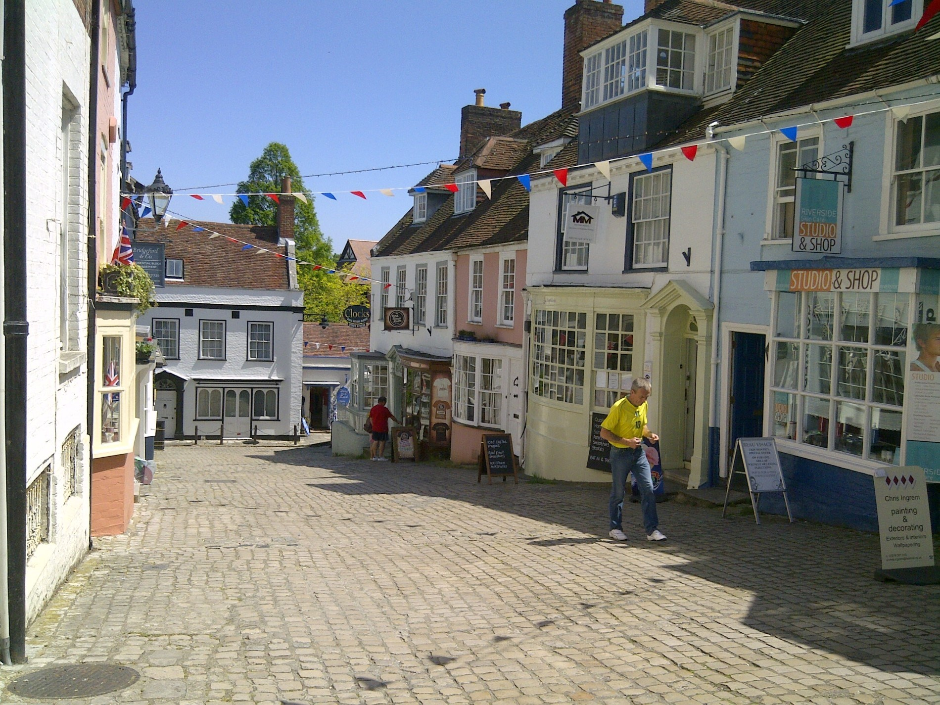 The cobbles in Lymington