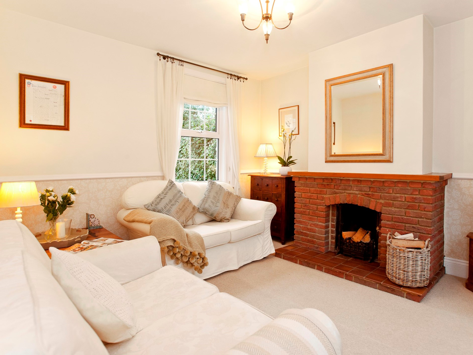 Watch a film and relax in the cosy lounge