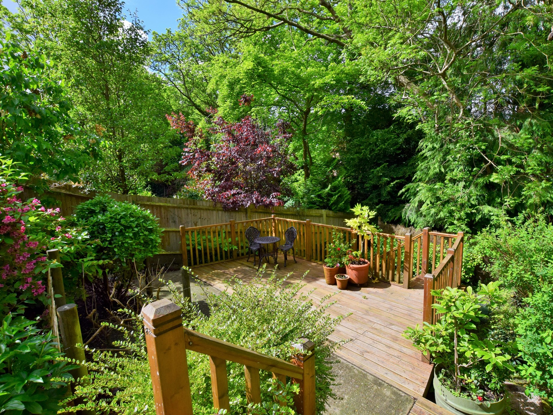 Wander down to the decked area and relax listening to the birds sing