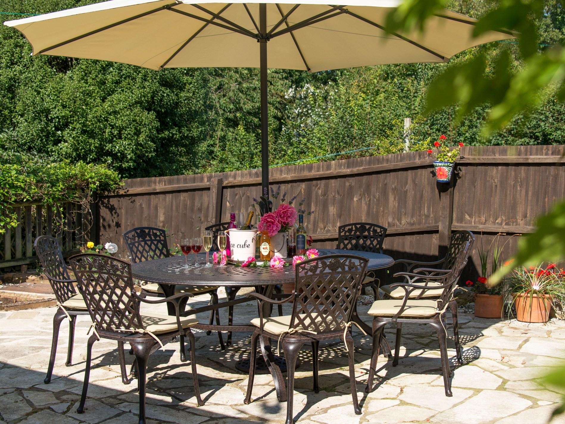 Enjoy the sunny terrace