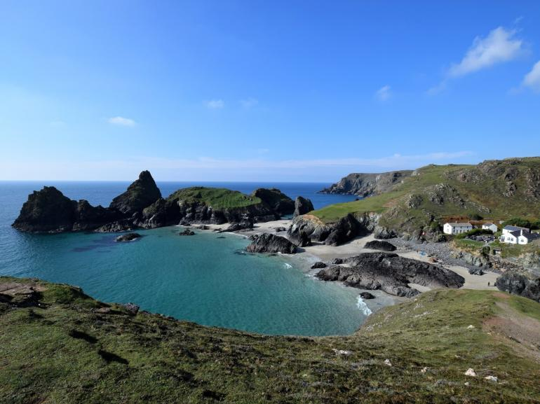Views of nearby Kynance Cove