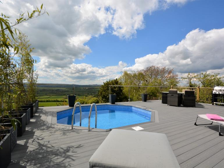 Access to shared pool and decking area