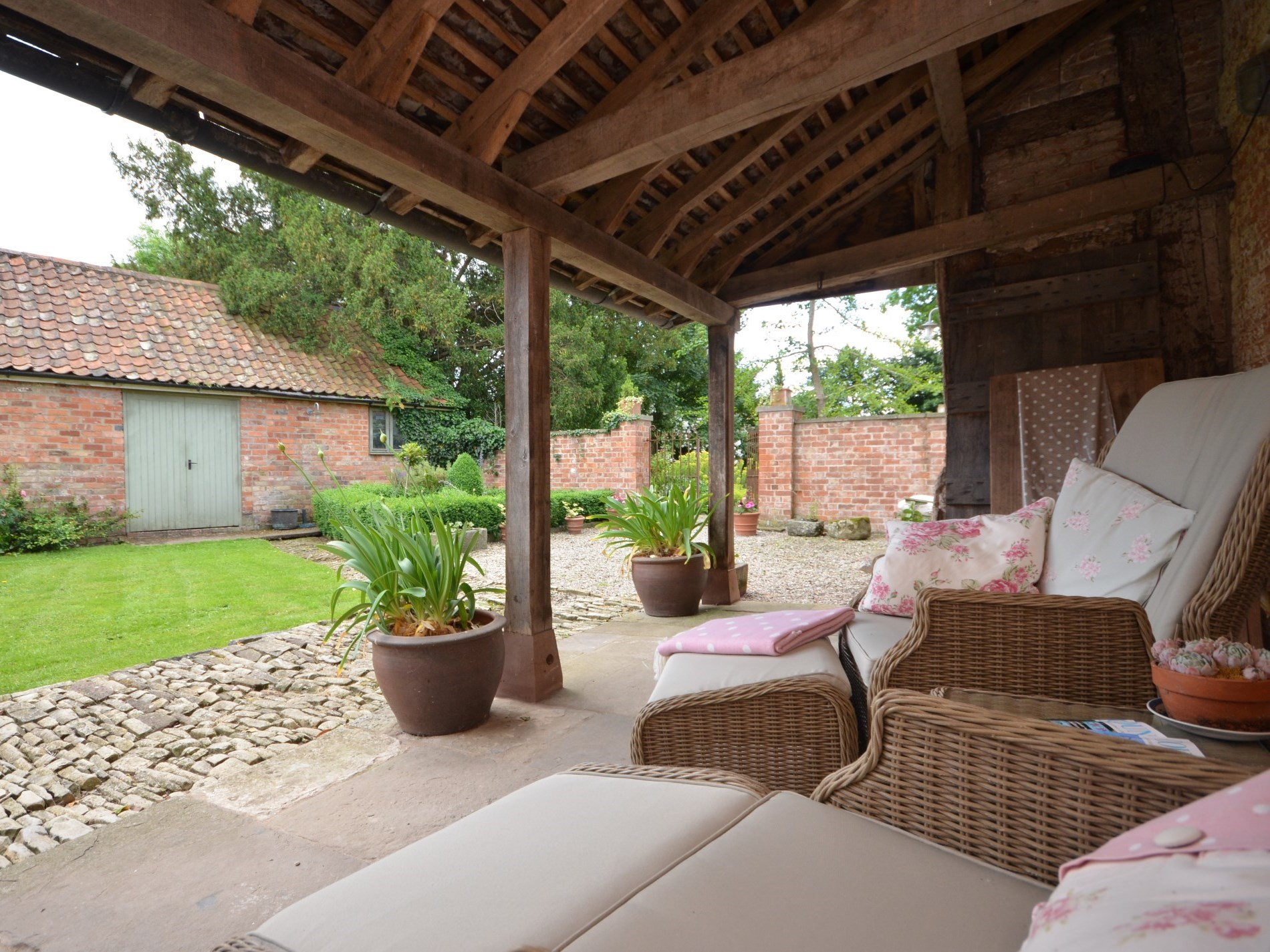 Soak up the sun in the private courtyard garden