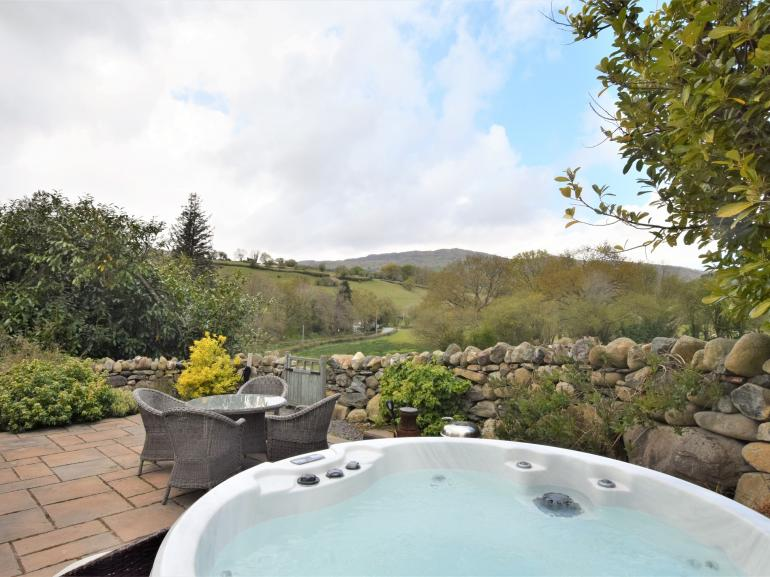 Enjoy the views from the hot tub or patio
