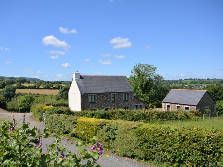 View towards the farmhouse and games room