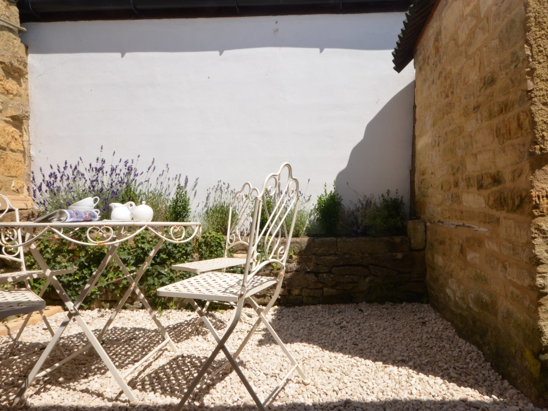 Enjoy the lavendar with your morning coffee in the sun