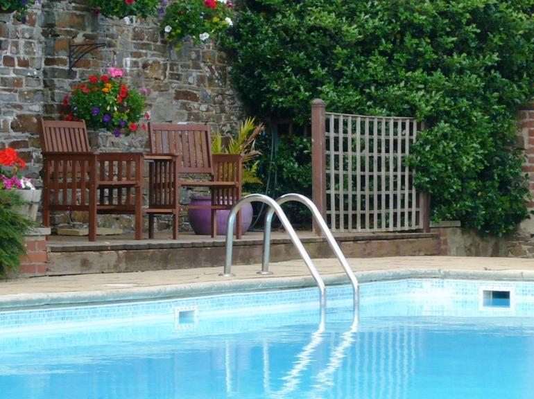 Superb outdoor heated swimming pool