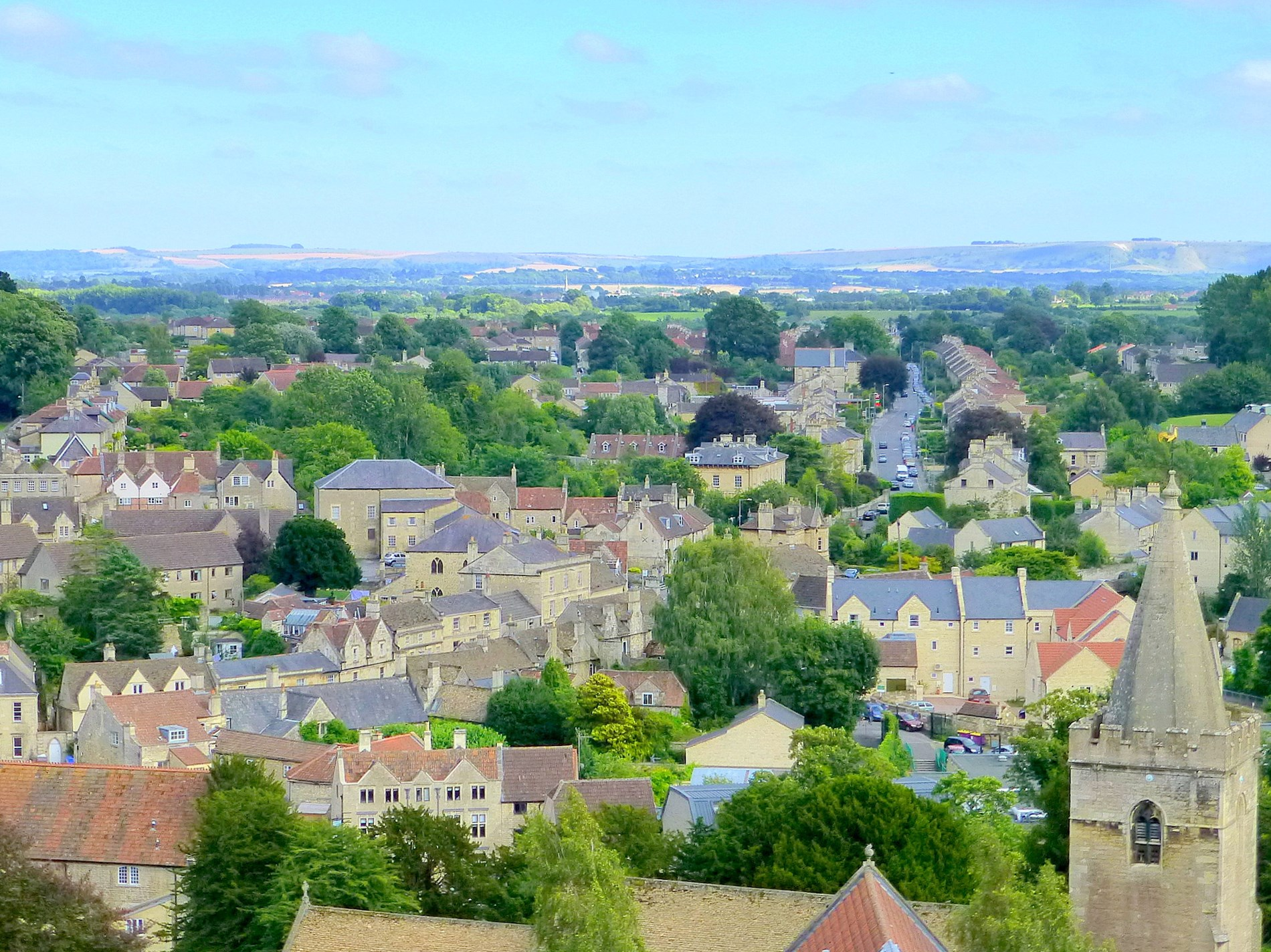 unobstructed views over Bradford on Avon