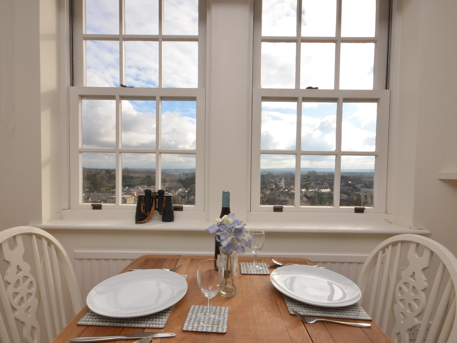 Dining area with exquisite views