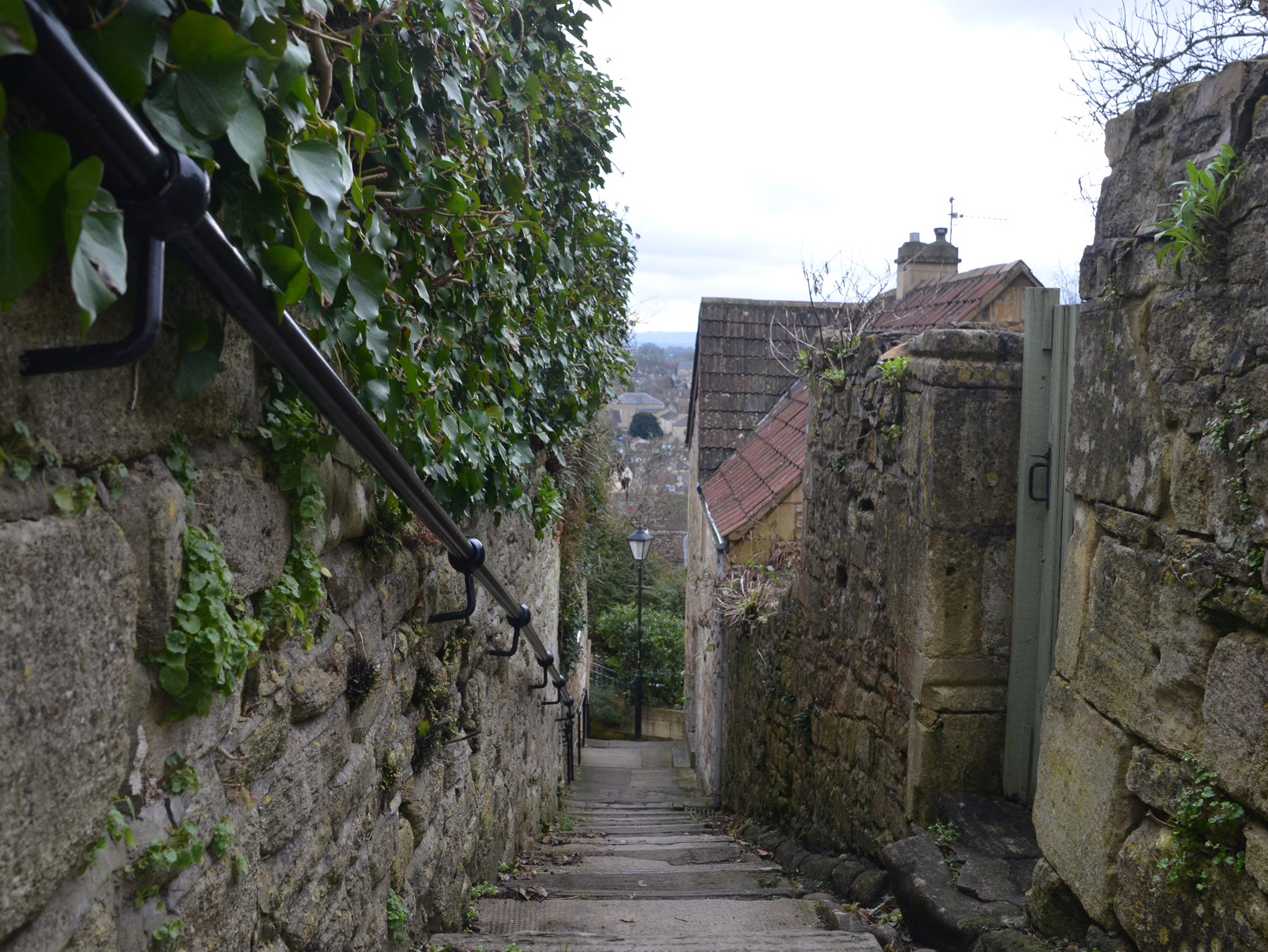 Walkway  into the heart of Bradford on Avon