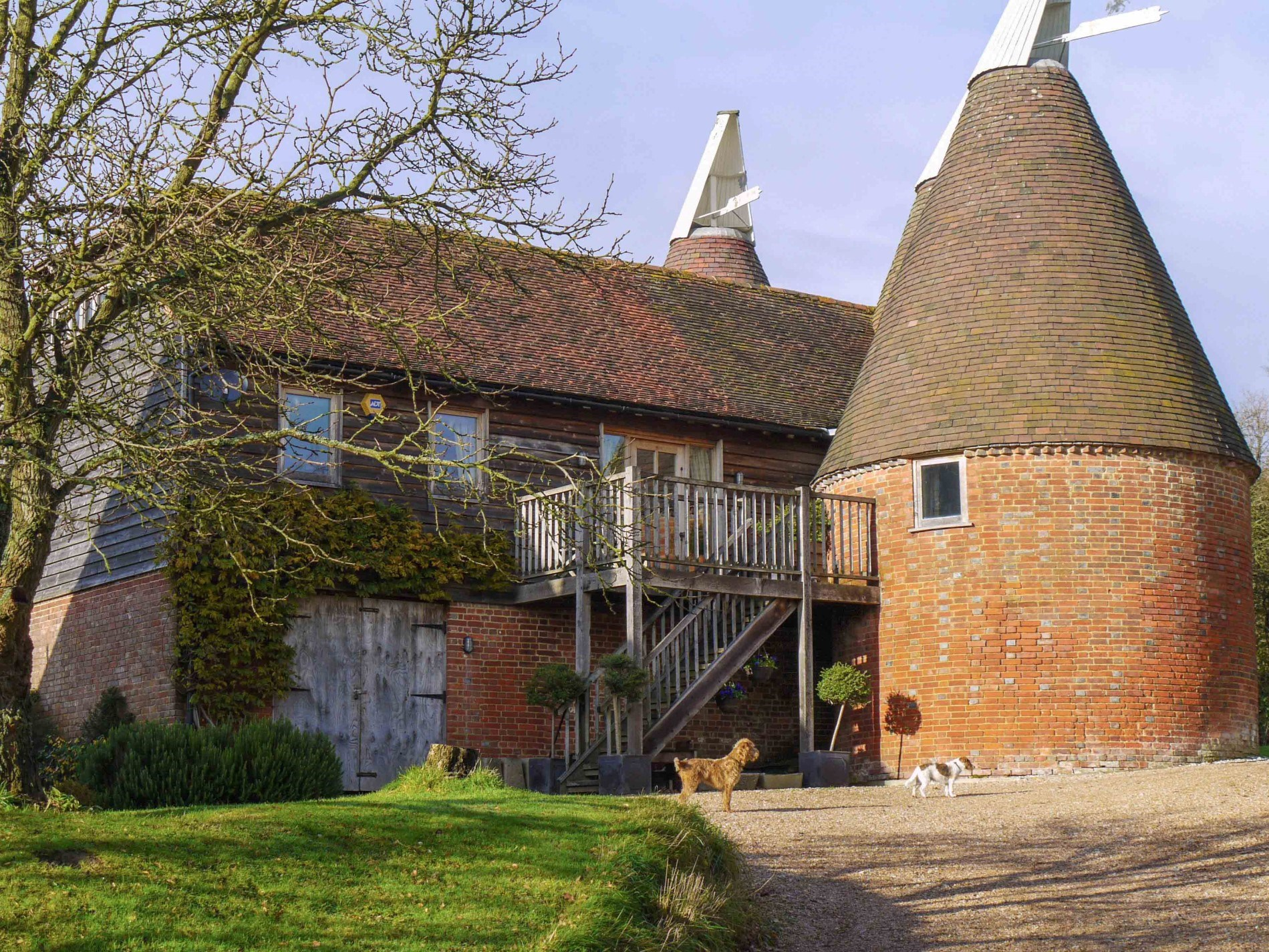 Stay in this16th century oast house