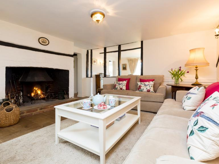 Cosy up in front of the open fire