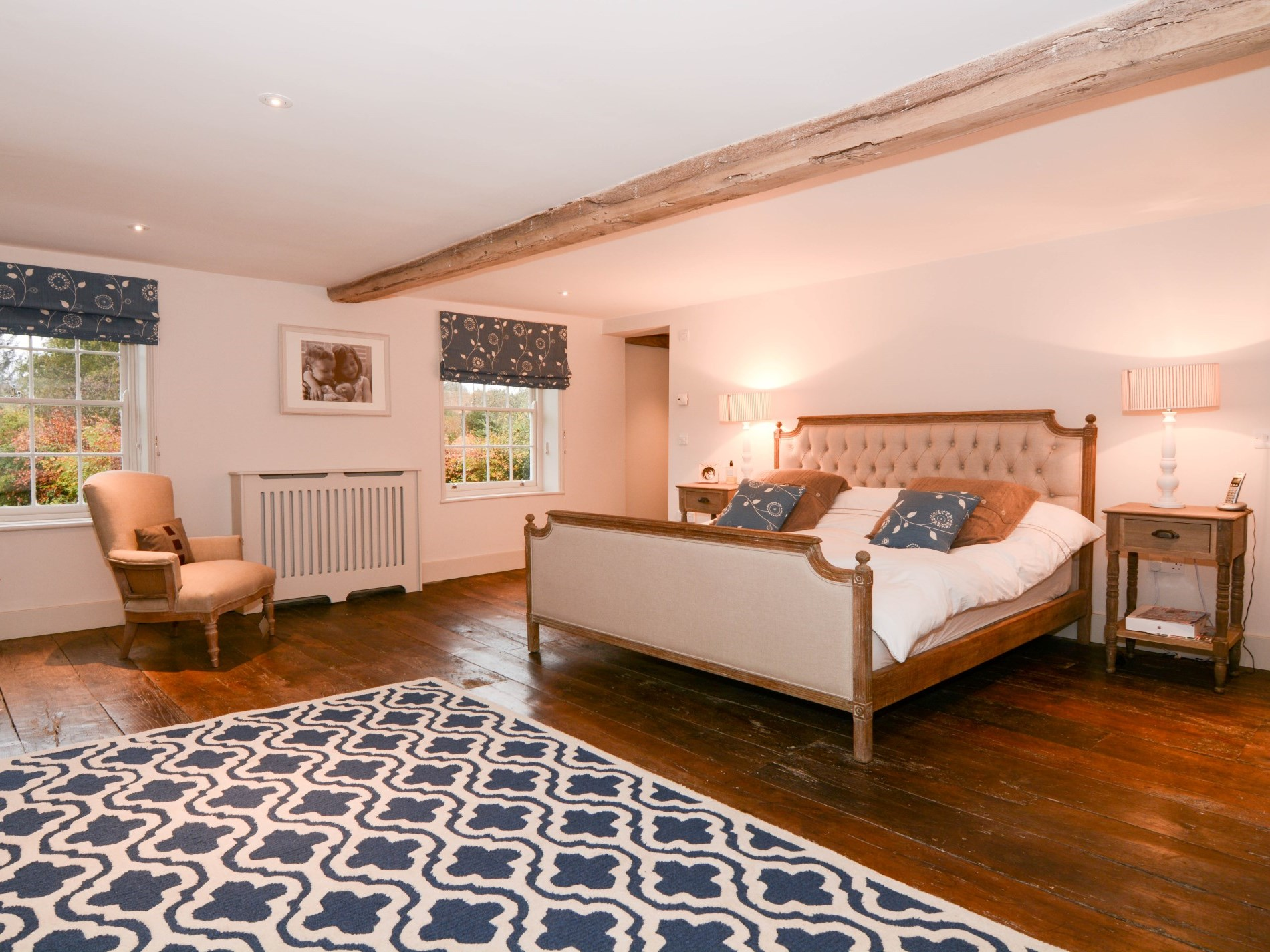 Super-king-size bedroom