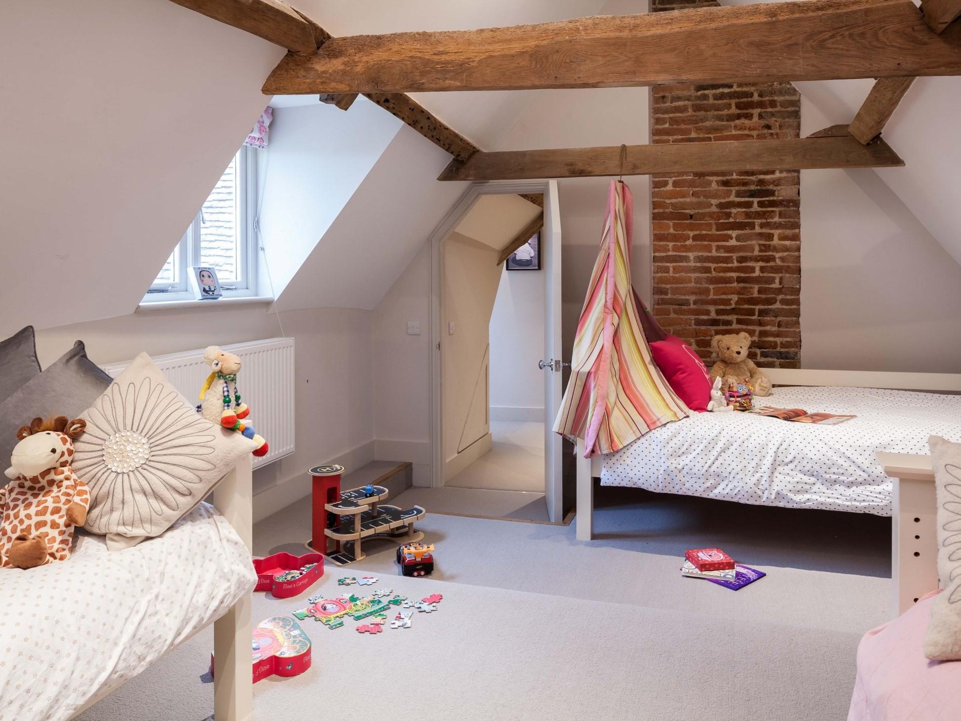 Twin bedroom located on second floor