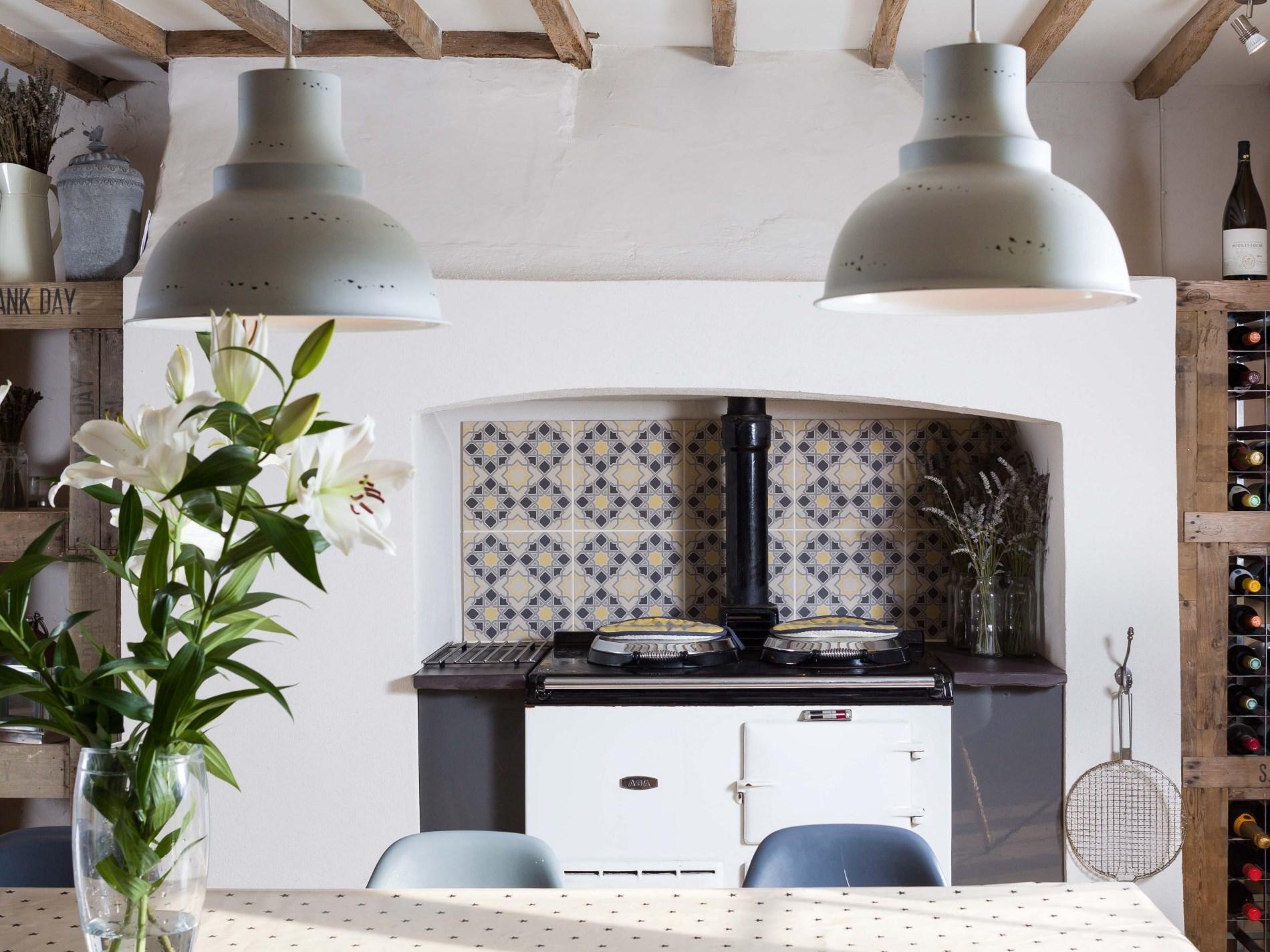Kitchen with original Aga