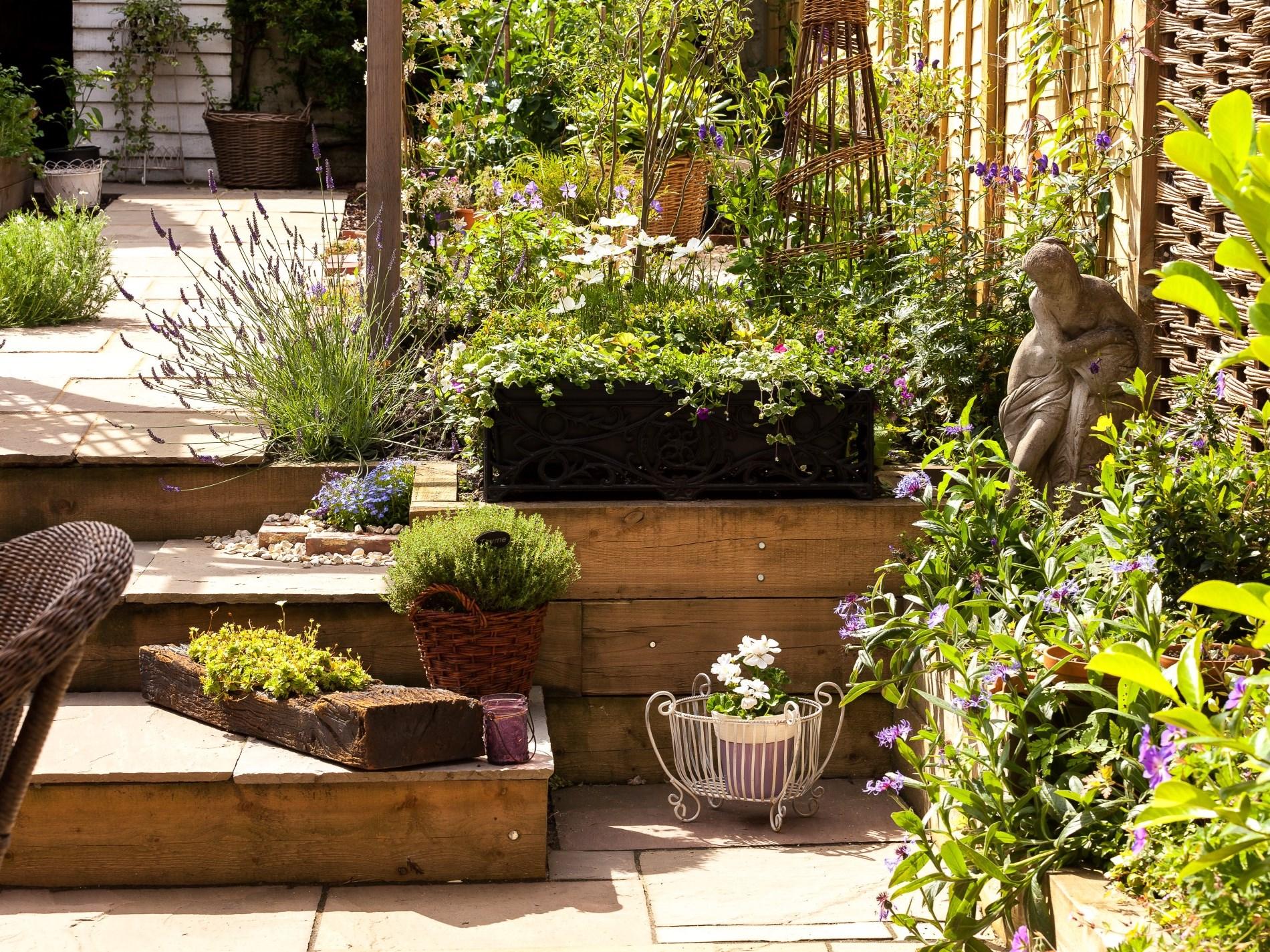 A well landscaped garden