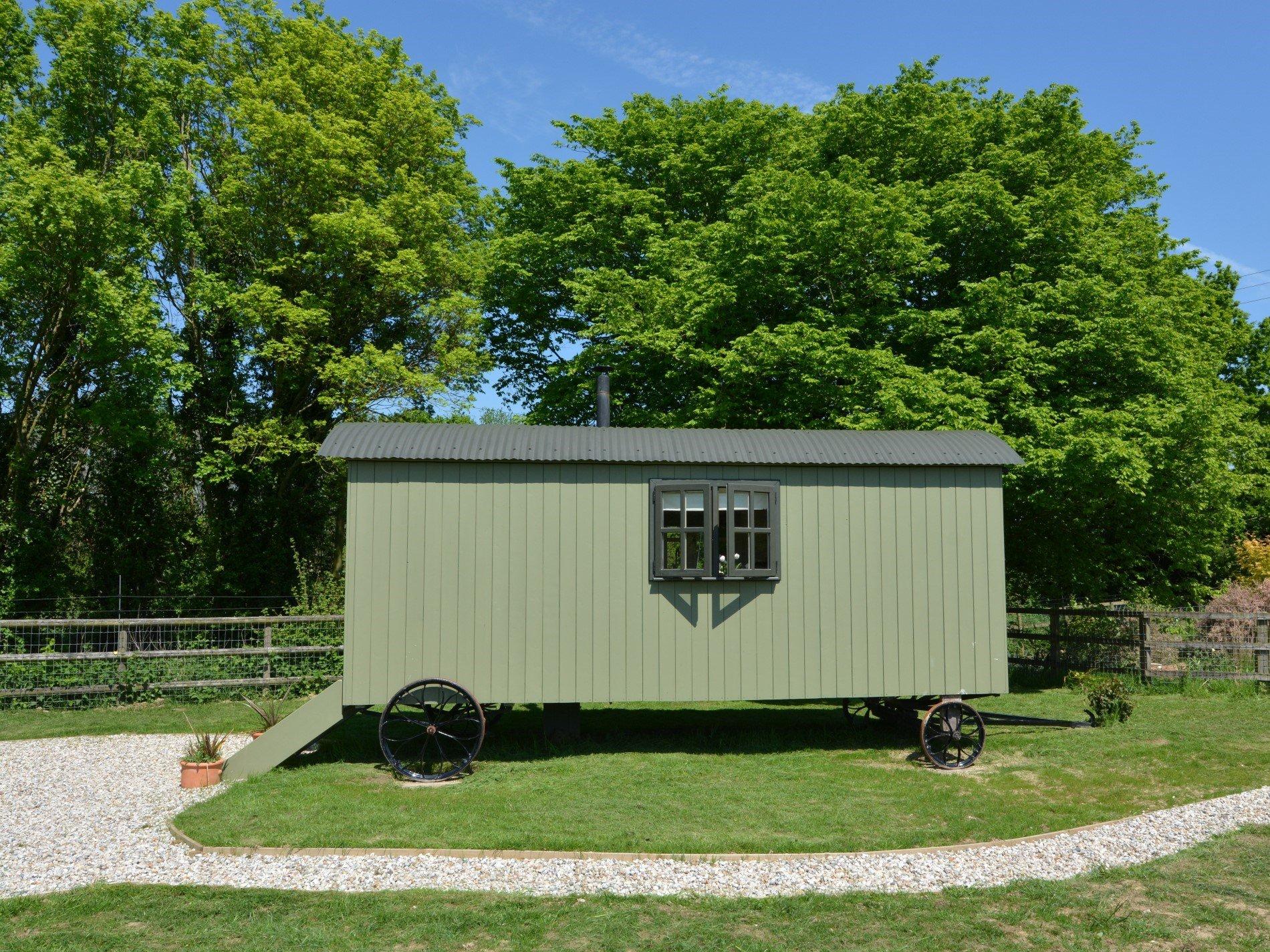Fully insulated shepherds hut