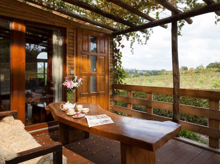 Enjoy the view of the orchards
