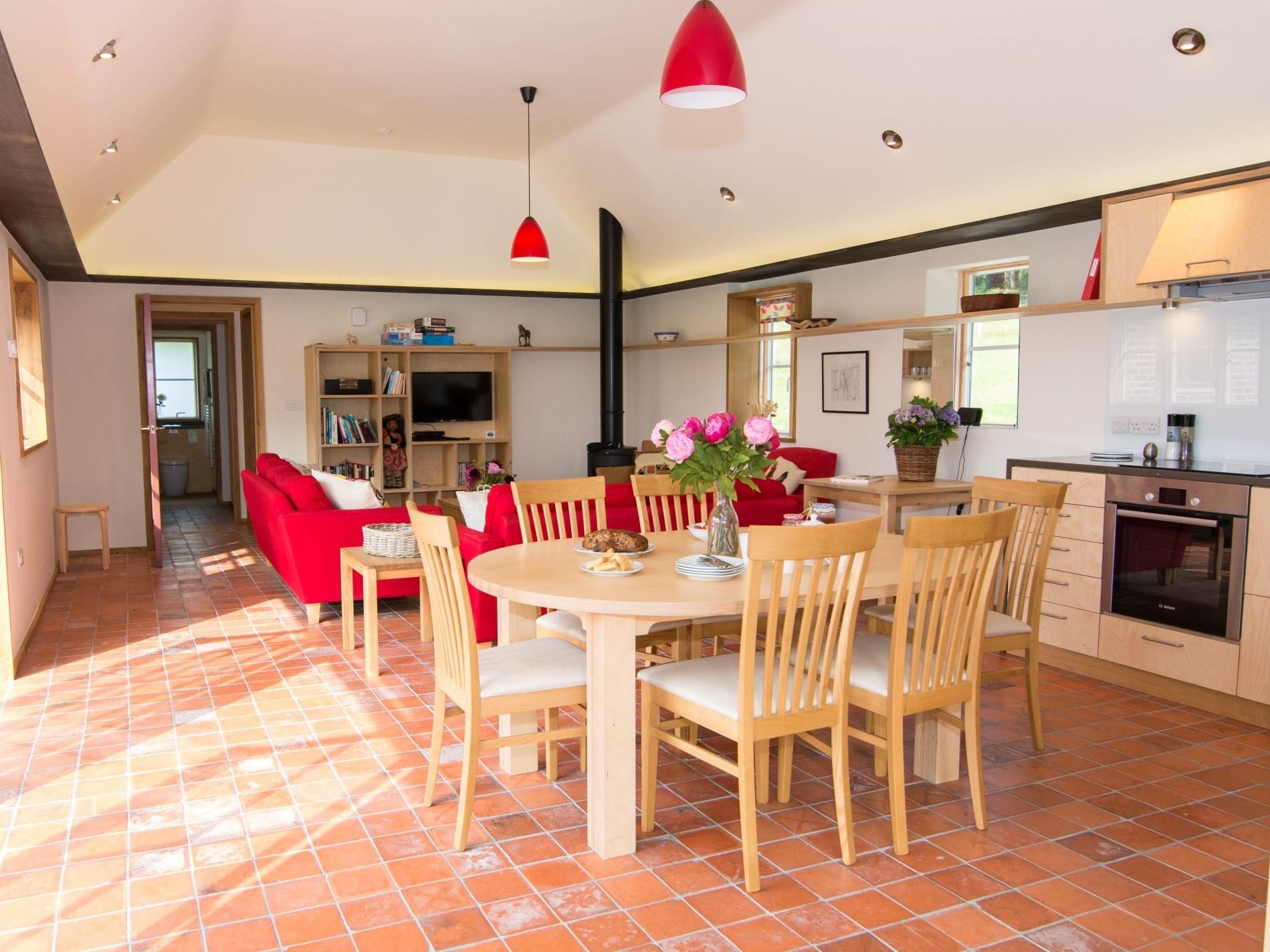 Open-plan contemporary living space